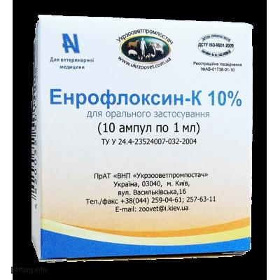 Энрофлокcин - К 10%, 1мл. (УЗВПП)