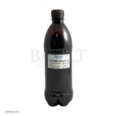 Раствор йода 5%, 500 мл. (Базальт)