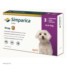 Симпарика (10 мг), 3 шт. (Zoetis)