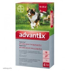Адвантикс для собак 10-25 кг, 2,5 мл. № 4 (Bayer)