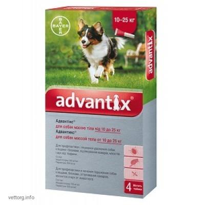 Адвантикс для собак 10-25 кг, 2,5 мл № 4 (Bayer)