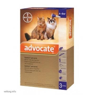 Адвокат для котов 4-8 кг, 0,8 мл № 3 (Bayer)
