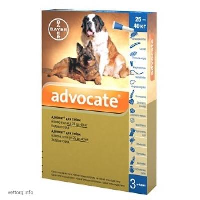Адвокат для собак 25-40 кг, 4 мл № 3 (Bayer)