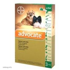 Адвокат для собак до 4 кг, 0,4 мл. № 3 (Bayer)