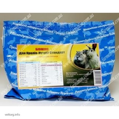 Биомикс® Для кроликов/нутрий Стандарт, 200 г. (Фарматон)