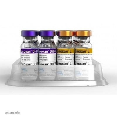 Биокан DHPPi+L (Biocan DHPPi+L) вакцина, 1 доза № 10 (Bioveta, s. r. o.)